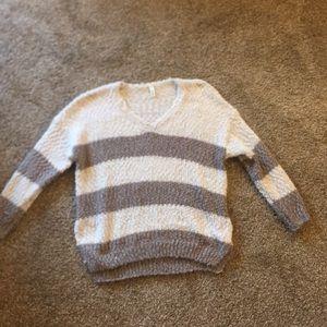 Striped off white / gray